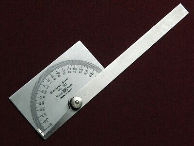 SK STAINLESS STEEL PROTRACTOR No.183, MACHINIST & WOODWORKING TOOLS