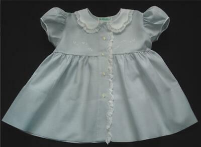 Vintage Light Smoked Blue Baby Dress Circa 50's Alfred Leon Size 1