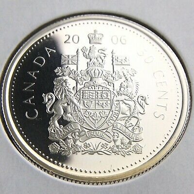 2006 Proof Canada 50 Cents Half Dollar Uncirculated Silver Coin Fifty Cents N600