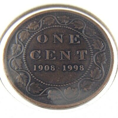 1908 1998 Canada One 1 Cent Proof Uncirculated Coin Penny N608