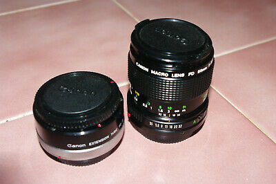 Canon FD 50mm f3.5 Macro Lens with Canon FD Extension Tube 25