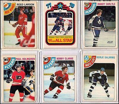 6 - 1978-1979 O-Pee-Chee NHL Sports Card Lot with Randy Carlyle Rookie #312 +++