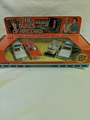 New / Nib 1981 Ertl The Dukes Of Hazzard 4 Vehicle Set No 1570 In 1/64 Scale