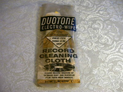 Vintage 1950/60's Duotone Electro Wipe Record Album Cleaning Cloth