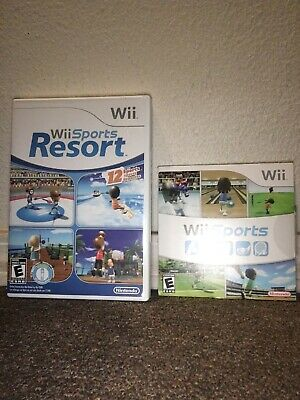 Wii Sports and Wii Sports Resort - Nintendo Wii - FAST SHIPPING