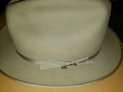 STETSON HIBOY TAWNY ROYALE DELUXE FUR FELT SILK FINISH DRESS HAT