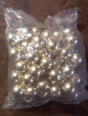 New In Bag ~ Bacardi Mardi Gras ~ Big Beads ~ Bright Gold ~ Necklace ~ Vintage
