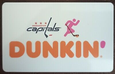 2019 Washington Capitals Dunkin donuts gift card