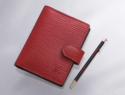 H7899M Authentic Louis Vuitton Epi Agenda Notebook Cover Mini