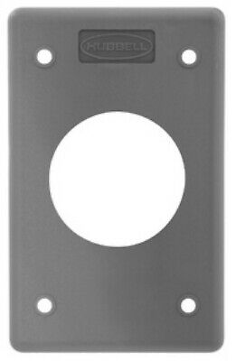 25x HUBBELL WIRING DEVICE-KELLEMS HBLP720FS Single Receptacle Plate,1 Gang,Gray