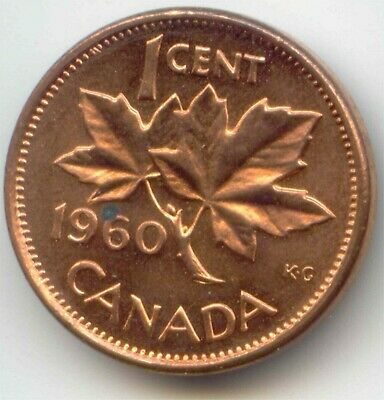 Canada 1960 Penny Canadian 1 Cent - Very Nice Coin EXACT COIN SHOWN