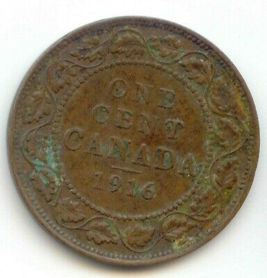 Canada 1916 1 Cent Coin Canadian Large Penny 1c  Filler Coin - see description