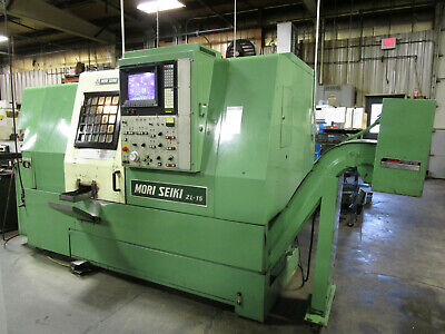 Mori Seiki ZL-15 4-axis CNC Lathe with Two Turrets, Tailstock, Chip Conveyor