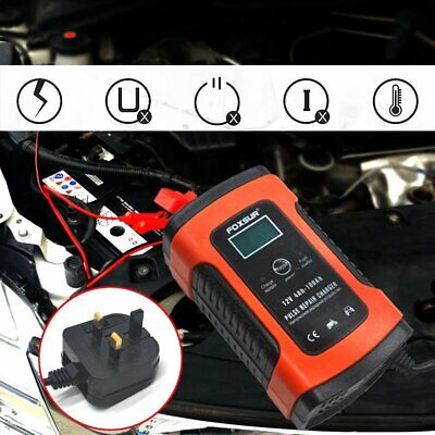 Automatic Smart 12V Car Battery Charger 5A LCD Display Auto Pulse Repair UK Plug