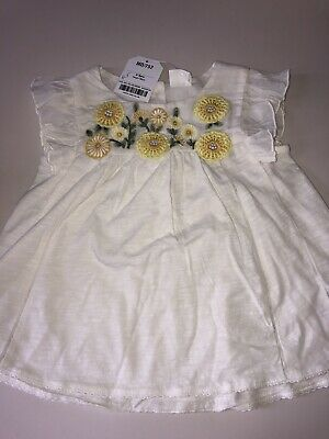 Girl's Next Top Blouse With Flowers BNWT 2-3 Years