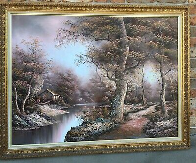 I.Cafieri Oil Painting 42in X 54in With Gold Patterned Frame