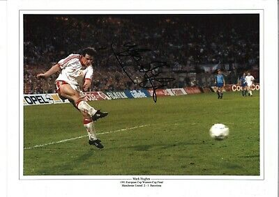 Mark Hughes collage Rotterdam Man Utd Authentic Hand Signed football photo SS530
