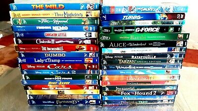 """Lot Of 39 Walt Disney Dvd + 3 Disney Bluray + 2 More Total 44 Children Movies"