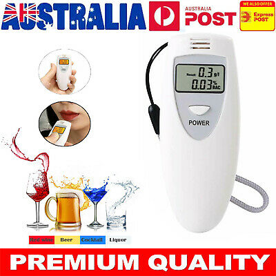 100% Quality Portable Breathalyzer Digital Alcohol Detector Tester - LCD Display