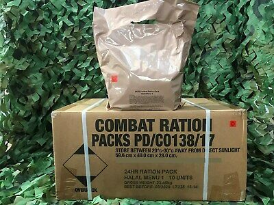 *New* 24Hr Army Ration Packs Fishing Hiking Camping Survival Emergency Full Case