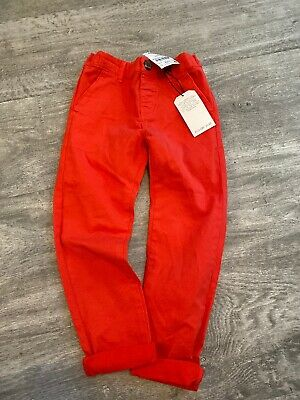 Boys Next Red Chinos - 3-4 Years BNWT