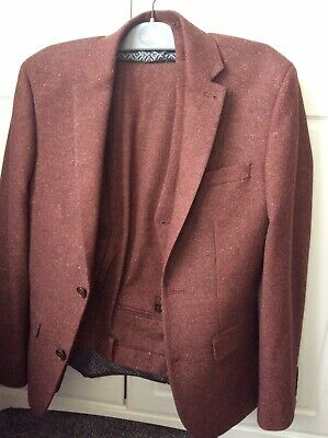"""Boys / Mens 3 Piece Suit  From Next 26"""" Trousers, 34 Jacket."""