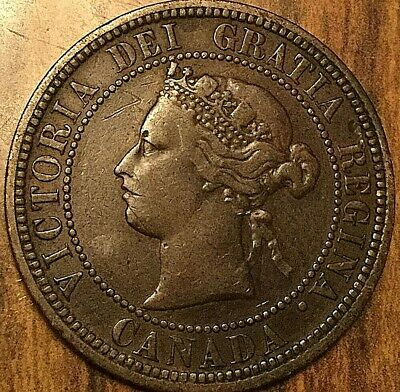 1876 H Canada Large Cent Large 1 Cent Penny