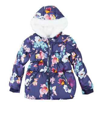 Ex Marks and Spencer Girls Faux Fur Padded Coat with Stormwear™ 9 - 12 Months
