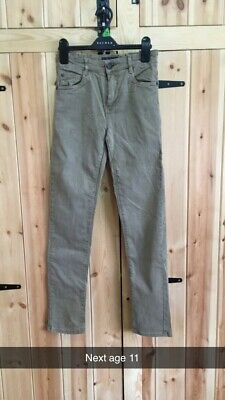 Boys Stone Slim Fit Chino Trousers Next Age 11