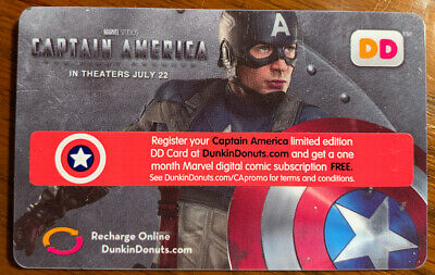 Dunkin Donuts Captain America gift card. No $ on card.