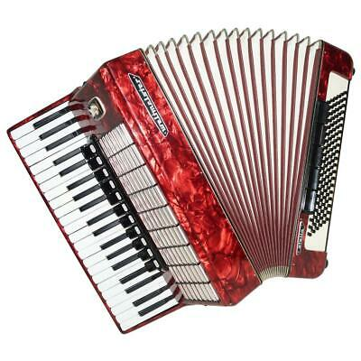 Close to New! Weltmeister Stella, 120 Bass, German Piano Accordion, Case, 1292