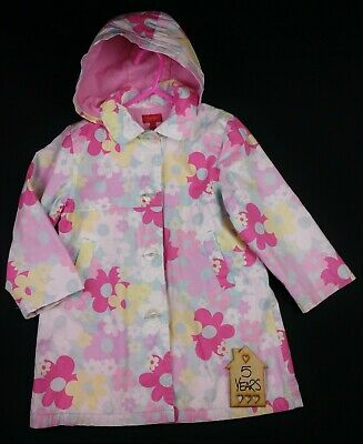 Girls Clothes TIGERLILY Pastel Floral Raincoat Jacket Lined AGE 5 Years 110cm GC