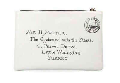 Harry Potter Hogwarts Purse Zip Clutch Bag Girls Cosmetic Pouch Letter Official