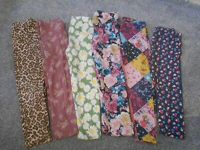 4-5 patterned leggings Next F&F Lindex Crafted x6