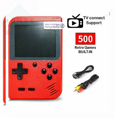 SeeKool Retro Handheld Game Console with 500 Classic NES FC Red