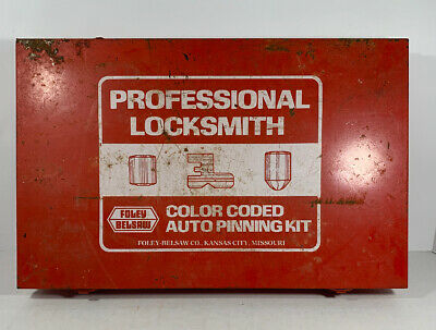Foley Belsaw Professional Locksmith Color Coded AUTO Pinning Kit INCOMPLETE