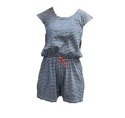Ex Mini Boden Girls Kids Stripe Playsuit Dress Age 11 - 16 Years (i61.11)