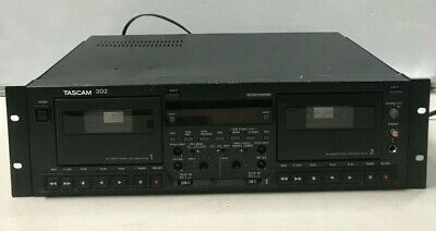 Tascam 302 Double Auto Reverse Professional Cassette Deck As Is