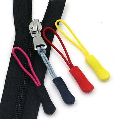 10pcs Zipper Pull Puller End Fit Rope Tag Fixer Zip Cord Tab Clip Buckles Travel
