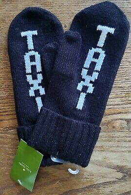 NWT Kate Spade TAXI Mittens Black One Size