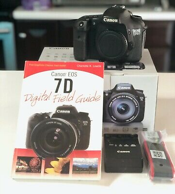 Canon EOS 7D 18.0MP Digital SLR Camera - Black (Body Only) READ DESCRIPTION