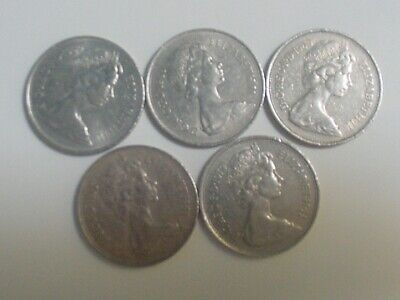1968 Guernsey Lily  5 New Pence GEM BU  wholesale lot of 25 flower coins