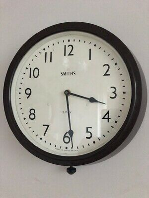 1960s Smiths Bakalite Wall Clock.  Excellent Condition