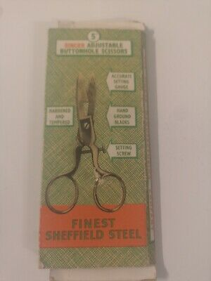 Singer Vintage Adjustable Buttonhole Scissors