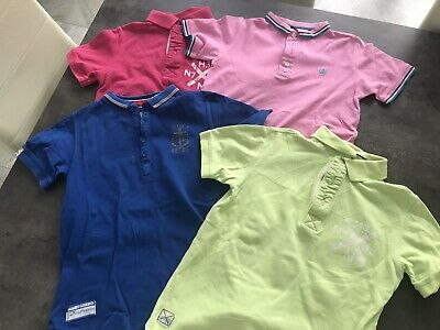 4 X Boys Poloshirts By NEXT. Age 8-9 Years.