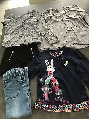 5 X girls bundle 5-6,Bunny Blouse,Skirt, Top, Denim Trousers Jeans.Rabbits Bnwt