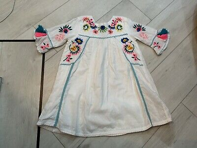 Girls Next Embroided Dress Age 3/4 Years Vgc