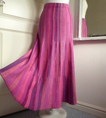 SPIRIT OF THE ANDES Knitted Skirt Long Elasticated Waist Pink Purple XL UK 16