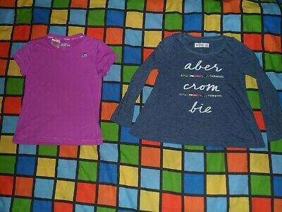 Joblot of 2 T-Shirts. ABERCROMBIE & FITCH, ADIDAS Climalite (Fitness). Age 7-8