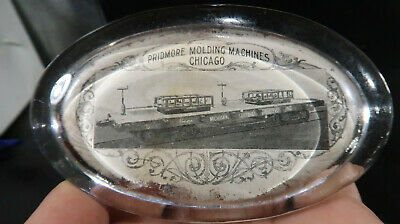 Pridmore Molding Machines Chicago Illinois Glass Paperweight
